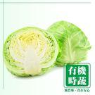【有機認證生鮮時蔬】半顆高麗菜  (600-800g/ 半顆)