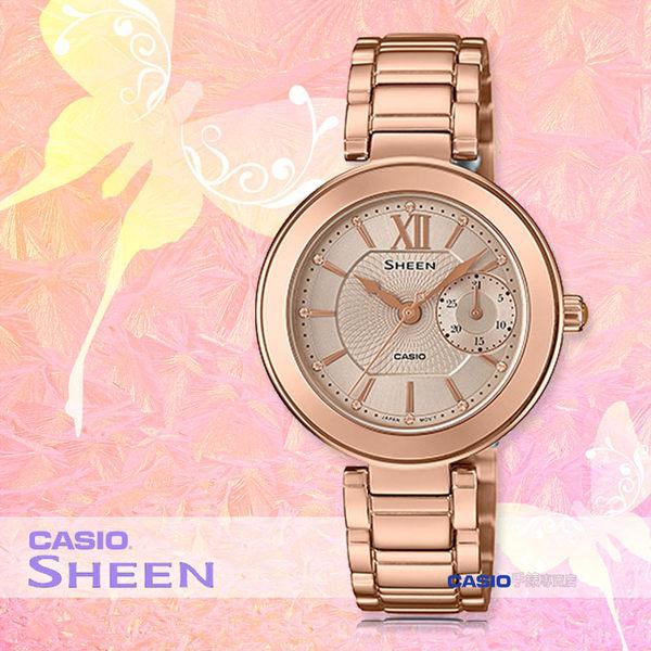 CASIO 卡西歐 SHEEN手錶專賣店 SHE-3050PG-7A 女錶 不鏽鋼錶帶 防水