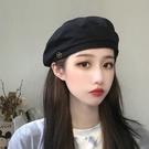 貝雷帽貝雷帽女薄款夏季黑色ins八角帽子網紅韓版日系英倫復古畫家帽潮 衣間迷你屋
