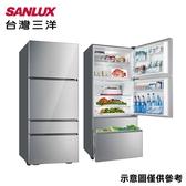 【SANLUX 台灣三洋】560公升四門變頻彩晶玻璃電冰箱SR-C560DVG