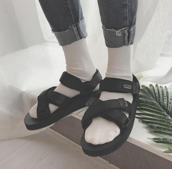 FINDSENSE品牌 男 時尚 潮 休閒 增高 魔術貼 PVC 沙滩涼鞋 拖鞋