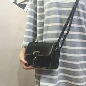 包包女2018新款時尚皮帶小方包百搭小包包簡約複古單肩包斜挎女包