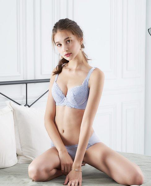 EASY SHOP-誘香之吻 大罩杯B-F罩內衣(迷情紫)