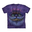 【摩達客】(預購)美國進口The Mountain 笑笑柴郡貓臉 純棉環保短袖T恤(10415045088)