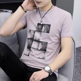 男短袖T恤 休閒男裝上衣 新款夏季 不掉色棉圓領簡約潮韓版男短Tcs176