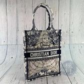 BRAND楓月 Christian Dior 迪奧 限量直立圖騰BOOK TOTE 手提包 托特包 小包 刺繡 圖騰
