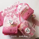 48入 粉色櫻花半透明磨砂平口袋 立體袋 包裝袋 點心袋 禮品袋 塑料袋 餅乾糖果袋 聖誕節袋D033