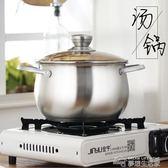 湯鍋不銹鋼家用加厚復底鍋具火鍋電磁爐燃氣通用二層蒸鍋 20cm igo  夢想生活家