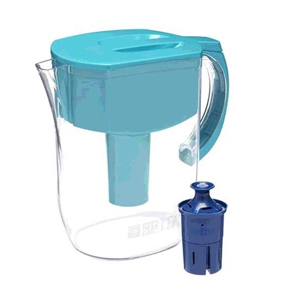 [9美國直購] Brita 水壺 Everyday Pitcher 含1個6個月長效型濾芯 Longlast Filter, Large 10 Cup, Turquois