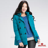 BRAPPERS 女款 女用雙排釦羽絨外套-藍綠