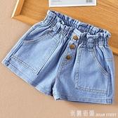 女童短褲夏季兒童洋氣高腰牛仔短褲外穿女孩百搭熱褲子