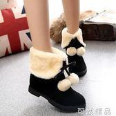 小短靴冬季鞋子新款韓版百搭學生秋季雪地靴女短筒棉鞋網紅靴   可然精品鞋櫃