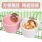 快速出貨倉鼠陶瓷碗可固定掛碗龍貓松鼠兔子食盆碗刺猬食盆飯碗固定