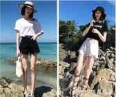 牛仔短褲女2020新款高腰熱褲顯瘦顯高黑色白色夏季薄款寬鬆潮ins 簡而美