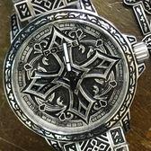 【萬年鐘錶】POLICE  十字軍圖騰 特殊風格 防水 古銀 男錶 + 手環套組  大錶徑 46mm 15530CRS-SET3