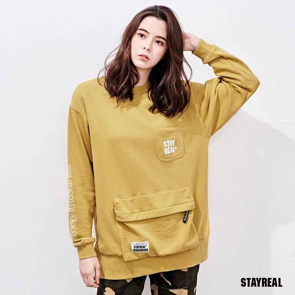 STAYREAL PURE LIFE 口袋厚棉T