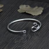 純銀手環(泰銀)-流行做舊生日情人節禮物女手鐲73gg7[時尚巴黎]