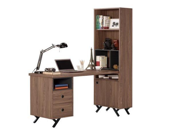 【新北大】✪ B362-1 約克5尺L型二抽書桌 -18購