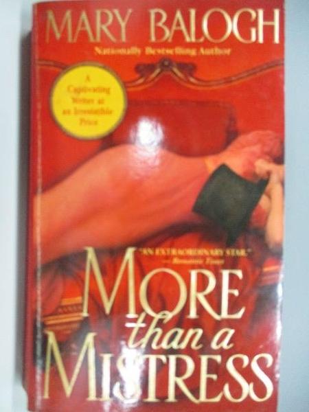 【書寶二手書T5/原文小說_ADP】More Than a Mistress_Mary Balogh