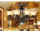 設計師美術精品館特價新款歐式仿古燈復古客廳餐廳臥室美式燈具燈飾古典8頭大吊燈