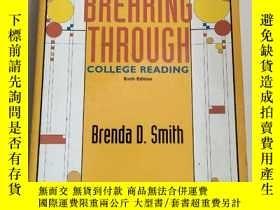 二手書博民逛書店BREAHING罕見THROUGH: COLLEGE READING [SIXTH EDITION]breahin