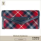 Kinloch Anderson 金安德森 皮夾 英式學院 紅/藍 經典格紋長夾 牛皮女夾 KA151202  MyBag得意時袋