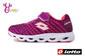 LOTTO樂得 義大利 大童 銀河編織風 機能鞋墊 網布運動鞋 慢跑鞋 M8603#桃紅◆OSOME奧森童鞋