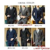 西服套裝男士職業伴郎韓版新郎結婚商務正裝外套小西裝夏【西語99】