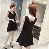 無袖洋裝夏季女裝修身顯瘦無袖背心連身裙A字短裙赫本小黑裙 愛麗絲精品