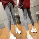 破洞牛仔褲女2021春夏季薄款韓版高腰緊身顯瘦彈力修身小腳九分褲 夏季新品