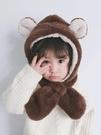 兒童帽子兒童帽子女寶寶護耳帽女童男童帽秋冬嬰幼兒圍巾一體可愛超萌冬季 新品