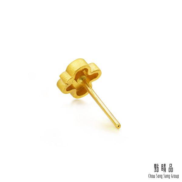 點睛品 航海王One-Piece 娜美紋身單邊黃金耳環(單只)