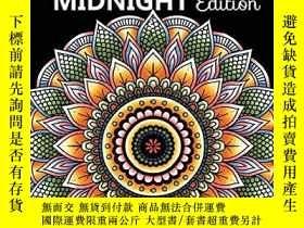 二手書博民逛書店Majestic罕見Mandalas MIDNIGHT Edition: 100+ Gorgeous Mandal