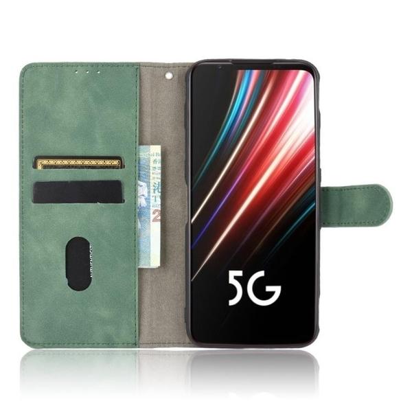 奢華 肌膚手感 翻蓋皮套 ZTE Nubia Red Magic 5S 手機殼 磁扣 努比亞 紅魔5S 保護殼 掀蓋殼