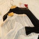 蕾絲打底衫 秋冬2020新款雷絲上衣女超仙網紗精致內搭洋氣小衫雪紡蕾絲打底衫 小天使