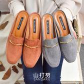 紳士拖鞋 金飾絨布平底拖鞋- 山打努SANDARU【035083#46】-絨布款