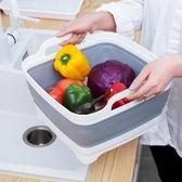 【免運】可折疊水槽洗菜籃廚房蔬果瀝水收納筐果盆果籃