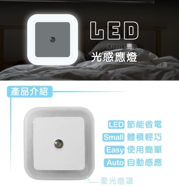 LED 方型智能感應小夜燈