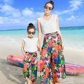 親子裝母女裝T恤套裝親子裝夏母女沙灘海邊裝  9號潮人館