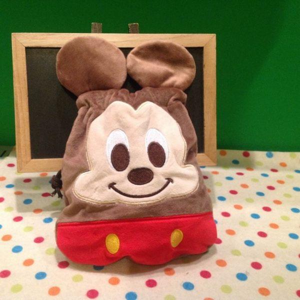 【發現。好貨】迪士尼 米奇 米妮刺繡束口袋 收納袋 相機包 拍得利包 雜物包