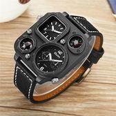 男士概念皮帶手錶多功能創意戶外運動手錶指南針軍錶 創想數位
