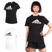 ADIDAS 女短袖T恤 (短T 短袖上衣 慢跑 路跑 愛迪達 免運 ≡排汗專家≡