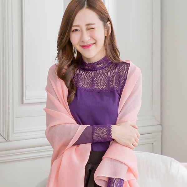 100%純羊毛圍巾/披肩【IMACO】簡約純色(桔紅)