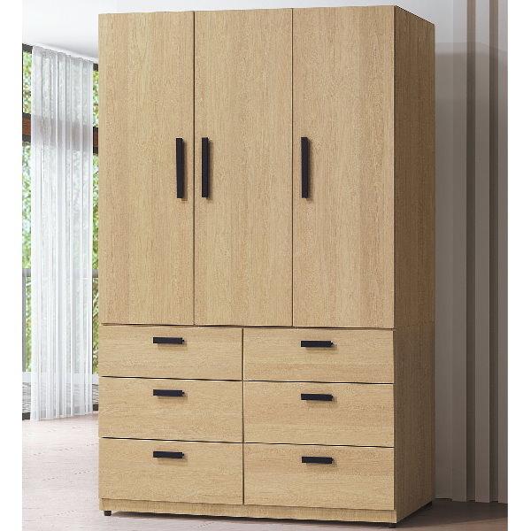 衣櫃 衣櫥 BT-44-6 威特原橡色4X7尺衣櫥【大眾家居舘】