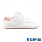 K-SWISS Clean Court 3-Strap S CMF時尚運動鞋-女-白/乾燥玫瑰