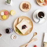 日式圓形櫸木碟小吃點心碟零食水果盤子