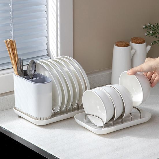 碗盤架 瀝水架 盤子架 餐具架 筷筒 收納架 置物 收納籃 二合一 碗盤餐具架【W029】生活家精品