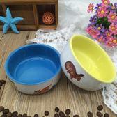 陶瓷寵物碗狗碗單碗狗盆食具貓碗貓食盆可愛貓外貿尾單小瓷碗免運直出 交換禮物