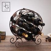 红酒架 見光鐵藝酒架酒櫃紅酒架擺件創意酒瓶架子歐式家用葡萄酒架裝飾品 星河光年DF