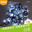 led聖誕燈 10米100燈 樹燈 100顆LED星星燈/白光-無跳機帶尾插可串接110v( A-88-07)